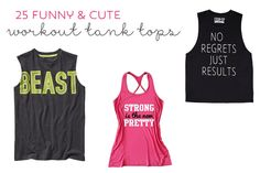 funny and cute workout tank tops