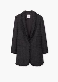 Pocket tweed jacket