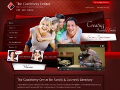 The Castleberry Center- This is a custom dental website design with a custom programmed back admin which allows the office to update their page content. We can program any functionality to your website that you would like. #webdesign #TheCastleberryCenter #HyperlinksMedia