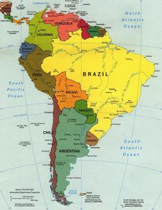 The countries in Latin America are, Brazil, Colombia, Boliva, Ecuador, Suriname, Guyana, Paraguay, Uruguay, Argentina, Chile, Peru, Venezuela, Jamaica, El Salvador, Honduras, Nicaragua, Haiti,Panama, Guatemala,  Mexico, Dominican Republic, Custa Rica,  French Guiana and Cuba.