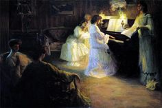 Young Girls at a Piano, Gabriel Deluc. French (1883-1916)