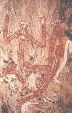 ANCIENT ABORIGINAL ART. reminds me of the leader alien in Close Encounters