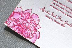 Watercolor Letterpress Wedding Invitations for the Aerialist Press