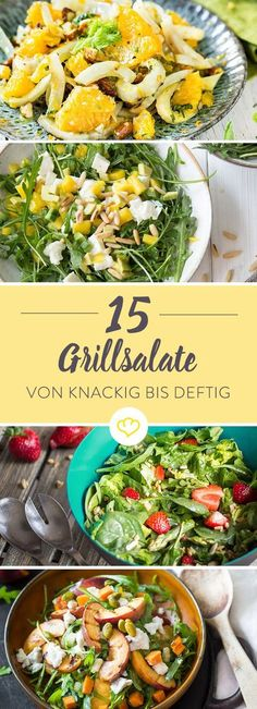20 salads for grilling that taste like summer- 20 Salate zum Grillen, die nach Sommer schmecken Barbecue salads – from hearty to crunchy and fruity *** BBQ Salads – 15 Recipe Ideas – Taste of Summer - Bbq Salads, Summer Salads, Summer Food, Summer Ideas, Salad Recipes, Vegan Recipes, Snack Recipes, Dinner Recipes, Brunch Recipes