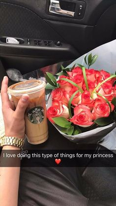 This would be a sweet surprise, just ask Sarah which one I like, I think it's called Carmel macchiato frozen something or other lol