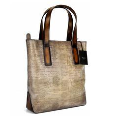 BERLUTI Vertical Scritto Grigio Venezia Leather Tote Bag New! #Berluti #ToteBag