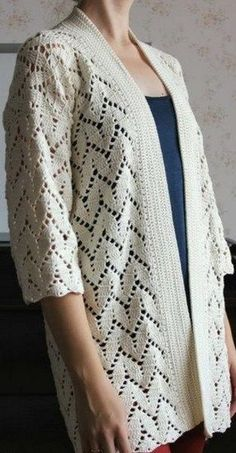 Discover thousands of images about crochet Crochet Jumper, Crochet Coat, Crochet Jacket, Crochet Cardigan, Crochet Clothes, Knitting Patterns, Crochet Patterns, Gilet Long, Baby Cardigan