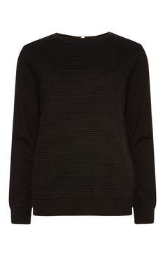 Primark - Black Quilted Zip Sweat Top