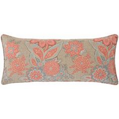 pine cone hill shalini terracotta slate double boudoir pillow - layla grayce