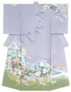 """kagayuzen: """" Kaga-Yuzen Kimono Takashi Chadani """""""