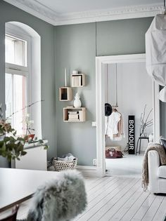 Green Grey Home With Character Via Coco Lapine Design Bedroom Decor Rustic
