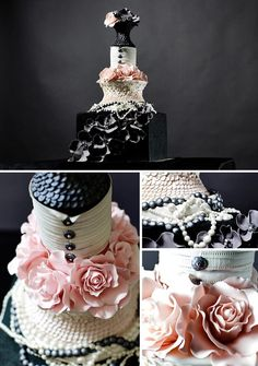Chanel Wedding Inspiration - Belle The Magazine Pretty Cakes, Beautiful Cakes, Amazing Cakes, Unique Cakes, Creative Cakes, Creative Desserts, Cupcakes, Cupcake Cakes, Sweets Cake