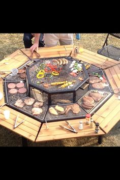 Awaome out door party idea. Guest bring their own dinner to cook themselves.