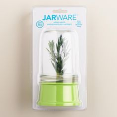 Transform any wide-mouth mason jar into a fresh herb preserver with this innovative Jarware lid. >> #WorldMarket Kitchen Accessories, Mason Jars
