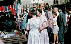 london in 1949. check out the dresses!