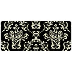 Bungalow Flooring Premium Comfort Damask Kitchen Mat Color: Onyx, Rug Size: x Runner Damask Party, Area Rug Runners, Kitchen Mat, Floor Mats, Kitchen Accessories, Rug Size, Area Rugs, Tapestry, Flooring