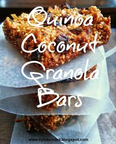 Kylee Cooks: Quinoa Coconut Granola Bars For the nursing mamas - add flax meal or seeds as well as brewers yeast - a decent boobie boost! Make them in mini muffin pans too - for bite size bars, to throw in a purse.