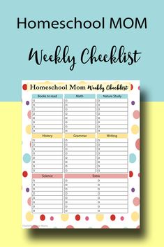 Sometimes we just need a weekly checklist to help with accountability. This is an ACADEMIC checklist to keep your homeschool on track.(it's cute, too) Grab it today! High School Books, Assignment Sheet, Family Planner, Study Planner, Study History, Charlotte Mason, Nature Study, Science Classroom, Kindergarten Math