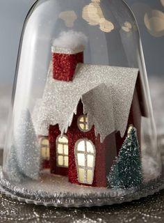 decoration de noel avec cloche en verre                                                                                                                                                                                 Plus