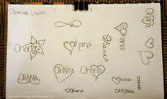 Ohana Tattoo Designs