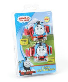 I'm curious about this being a two-pack.  One for Grandpa?  :)  Caleb got very excited when he saw these, but I don't think he got what they were when I explained it.  AE  . .Take a look at this Thomas LED Headlamp - Set of Two by Thomas & Friends on #zulily today!