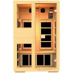 JNH Lifestyle 2 person Ensi Zero-EMF Far Infrared Sauna with Canadian Hemlock Wood