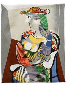 Pablo Picasso - Portrait de Marie Thérèse (tapestry), Design and Decorative Arts Pablo Picasso, Kunst Picasso, Art Picasso, Picasso Paintings, Contemporary Art For Sale, Modern Art, Beautiful Paintings, Art Forms, Female Art