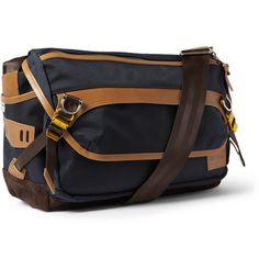 Master-Piece Potential Leather-Trimmed Cordura Messenger Bag