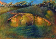 Dawn in Hobbiton - Radu Gacin Fellowship Of The Ring, Lord Of The Rings, Shire, John Howe, Tolkien Books, Amazing Spaces, Middle Earth, Lotr, The Hobbit