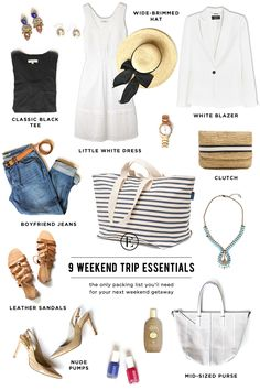 My Capsule Wardrobe ~ 9 Weekend Trip Packing Essentials #theeverygirl #oldnavy