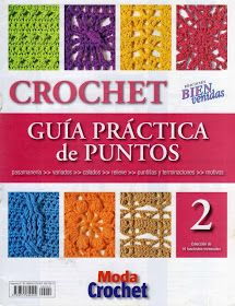 lots of different crochet books etc site Crochet Instructions, Crochet Diagram, Crochet Chart, Love Crochet, Crochet Motif, Crochet Patterns, Crotchet Stitches, Knitting Stitches, Knitting Magazine