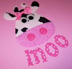 Fabric Applique TEMPLATE Pattern ONLY Cow And Moo by etsykim, $2.50