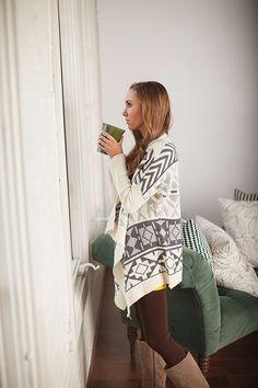 Modern Vintage Boutique - Ivory Aztec Sweater, $56.00 (http://www.modernvintageboutique.com/ivory-aztec-sweater.html)
