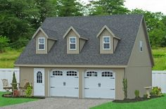One bedroom garage apartment over two car garage plan for 2 story garage packages
