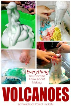 How to make a volcano!! This little guide includes everything you need to know to make a volcano at home...and detailed instructions on how to make five different kinds of volcanoes!