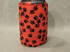 Paw Prints Can or Water Bottle Cozy Koozie by favorite4paws, $2.00