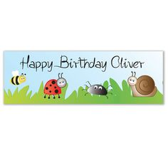 Celebrate a happy occasion like a birthday with a personalised vinyl banner.  Helium balloons are also available