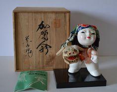 Kaganingyo vintage Japanese folk art doll boxed by StyledinJapan, $42.00