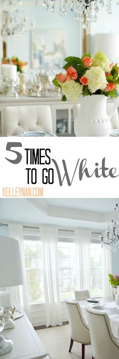 Five Times to Go White in Your Home Decor