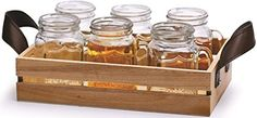 Circleware Country 5 Ounce Mini MUG Clear Glass Shot Glass Set with Glass Handles and Wooden Tray 7 Piece Glassware Drink Cup Set ** You can get additional details at the image link.