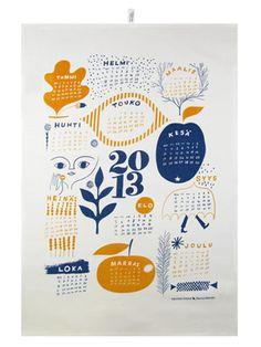 2013 Calender Tea Towel