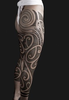 #tribal #leg #ink #tattoo #amazing