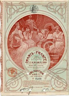 1903 certificate by Alfons Mucha