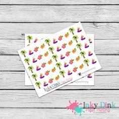 New to InkyDinkPrinting on Etsy: Island / Palm Tree / Sail Boat / Hibiscus / Planner Stickers / Erin Condren / Happy Planner / Plum Planner / EC Life Planner / HS-37 (3.00 USD)