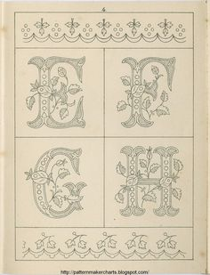 Free Easy Cross, Pattern Maker, PCStitch Charts + Free Historic Old Pattern Books: Sajou No 235 Embroidery Alphabet, Embroidery Monogram, Cross Stitch Alphabet, Crewel Embroidery, Vintage Embroidery, Ribbon Embroidery, Cross Stitch Embroidery, Cross Stitch Patterns, Embroidery Designs