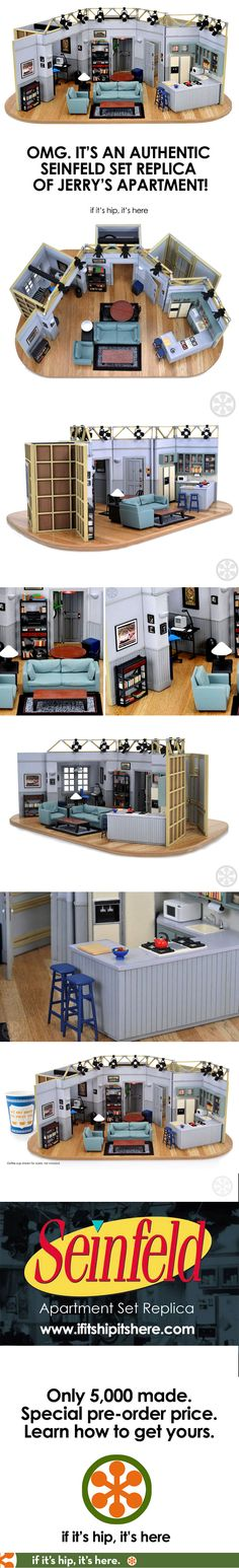 How awesome is this??? Deets at http://www.ifitshipitshere.com/seinfeld-set-replica-of-jerrys-apartment/ #Seinfeld