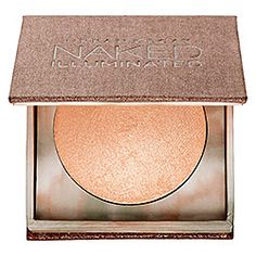 Urban Decay - Naked Illuminated in Aura - soft pink shimmer w/golden iridescent sparkle  #sephora