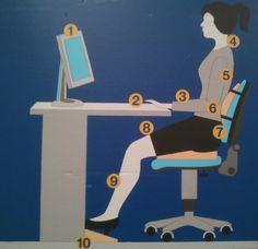 10 Tips Consejos para una Buena Postura delante del Ordenador