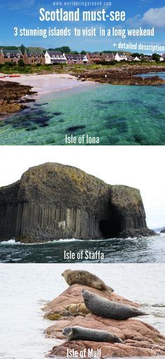 Scotland must-see islands - Isle of Mull, Iona and Staffa, with white-sand beaches, rich wildlife (puffins!), volcanic caves and great scenery. You need to put them on your Scotland bucket list! Visit Inner Hebrides in Scotland, itinerary of Scottish islands | Worldering around