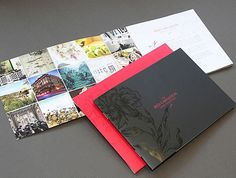 brochure layout -     Large Graphical content, full colour, yet harmonious layout...     Gloss Varnish detailing